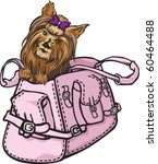 cute dog in designer purse. | Shutterstock .eps vector #60464488