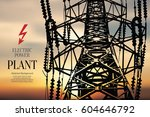 electric power station.... | Shutterstock .eps vector #604646792