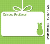 easter cut out tag card in... | Shutterstock .eps vector #604647128
