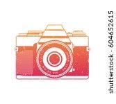 retro camera  analog slr | Shutterstock .eps vector #604652615