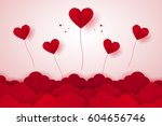 valentines day   illustration... | Shutterstock .eps vector #604656746