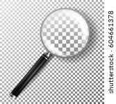 realistic magnifying glass... | Shutterstock .eps vector #604661378