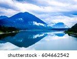 sylvensteinspeicher   reservoir ... | Shutterstock . vector #604662542