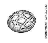 hand drawn vector illustration... | Shutterstock .eps vector #604662932