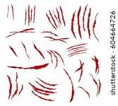claws scratches vector.... | Shutterstock .eps vector #604664726