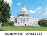 washington dc  us capitol... | Shutterstock . vector #604665158