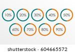 circle diagram set with... | Shutterstock .eps vector #604665572