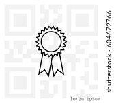 award line icon. vector... | Shutterstock .eps vector #604672766