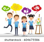 learning in you interested.... | Shutterstock .eps vector #604675586