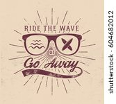 vintage surfing graphics and... | Shutterstock .eps vector #604682012