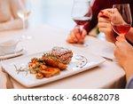 romantic time of loving couple...   Shutterstock . vector #604682078