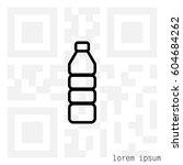 plastic bottle line icon    Shutterstock .eps vector #604684262
