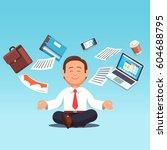 business man sitting in... | Shutterstock .eps vector #604688795