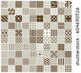 graphic ornamental tiles... | Shutterstock .eps vector #604690526
