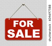 For Sale Sign With Transparent...