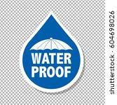 water drop text | Shutterstock .eps vector #604698026