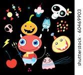 halloween funny devil with... | Shutterstock .eps vector #60469903