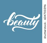 "hand drawn lettering ""beauty"".... 