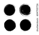 set of vector circle grunge... | Shutterstock .eps vector #604703726