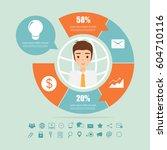 business logic circle... | Shutterstock .eps vector #604710116
