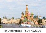 vasilyevsky spusk square with... | Shutterstock . vector #604712108
