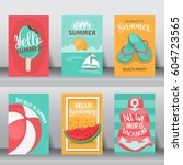summer  holiday  vacation...   Shutterstock .eps vector #604723565