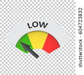low level risk gauge vector... | Shutterstock .eps vector #604723832