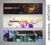 abstract vector background dot... | Shutterstock .eps vector #604726592