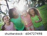 children playing outdoors in...   Shutterstock . vector #604727498