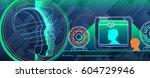 3d scanning 3d printing. set... | Shutterstock .eps vector #604729946