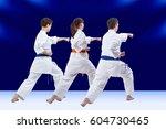 blows arm adult friends... | Shutterstock . vector #604730465
