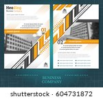 two sided brochure or flayer... | Shutterstock .eps vector #604731872