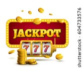 slot machine lucky sevens... | Shutterstock .eps vector #604733576