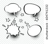set of comic speech bubbles... | Shutterstock .eps vector #604741232