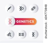 genetics icons set  genetic... | Shutterstock .eps vector #604773848