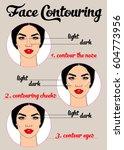 face contouring | Shutterstock .eps vector #604773956