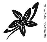 vanilla sticks with a flower... | Shutterstock .eps vector #604779356