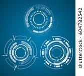 modern virtual technology...   Shutterstock .eps vector #604782542