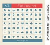 user interface icons set with...