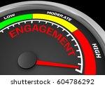 engagement level to maximum... | Shutterstock . vector #604786292