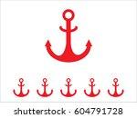 anchor marine  icon  vector... | Shutterstock .eps vector #604791728