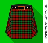 scottish tartan kilt.the men s... | Shutterstock .eps vector #604792286