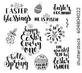 phrases about easter.... | Shutterstock .eps vector #604804022