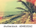 old photo. retro. postcard.... | Shutterstock . vector #604810262