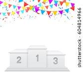 white sport podium of winners   Shutterstock .eps vector #604814966