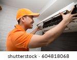 air conditioning technician | Shutterstock . vector #604818068