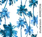tropical background seamless... | Shutterstock .eps vector #604822436