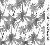tropical background seamless... | Shutterstock .eps vector #604822472