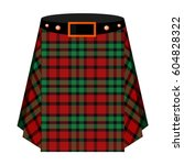 scottish tartan kilt.the men s... | Shutterstock .eps vector #604828322