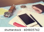 accessories for travel. smart... | Shutterstock . vector #604835762